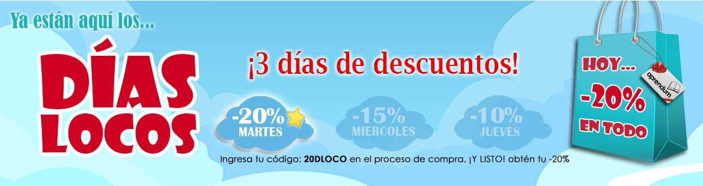 ¡Días Locos: Hoy 20% dto.! ¡Corre que van bajando!